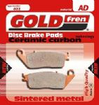 "SPEED TRIPLE 94-97: ""REAR PADS"" Goldfren Sintered ""HH"" Brake Pads GF009-HH =1xPair"
